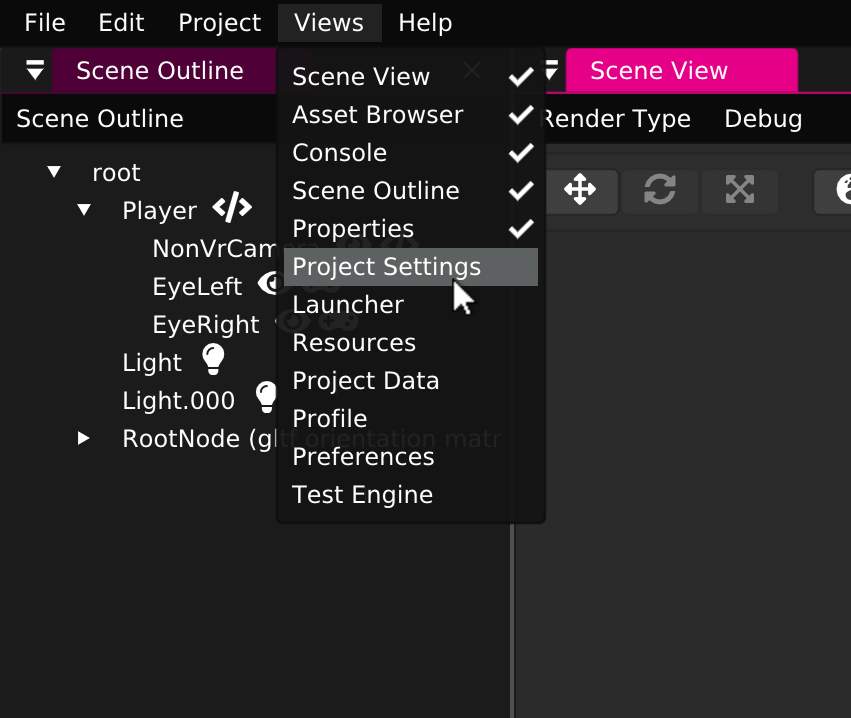Sceenshot: Getting Started JS - Project Settings